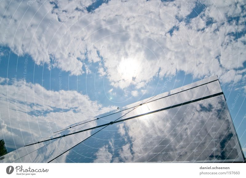 Sun Energy industry Electricity Future Technology Climate Science & Research Solar Power Beautiful weather Reflection Climate change Advancement Solar cell Weather Energy High-tech
