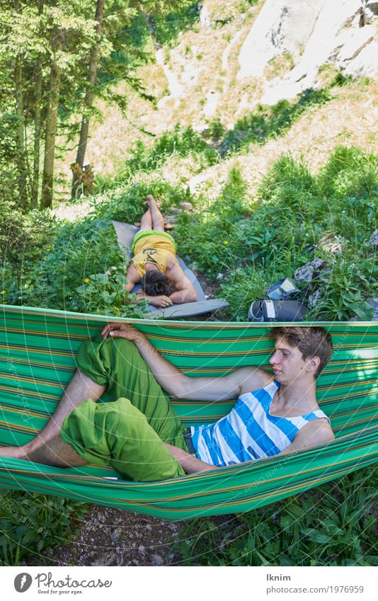 chill in nature Masculine Young man Youth (Young adults) Friendship Adults 2 Human being 18 - 30 years Relaxation Sleep Nature Bavaria Puberty Break