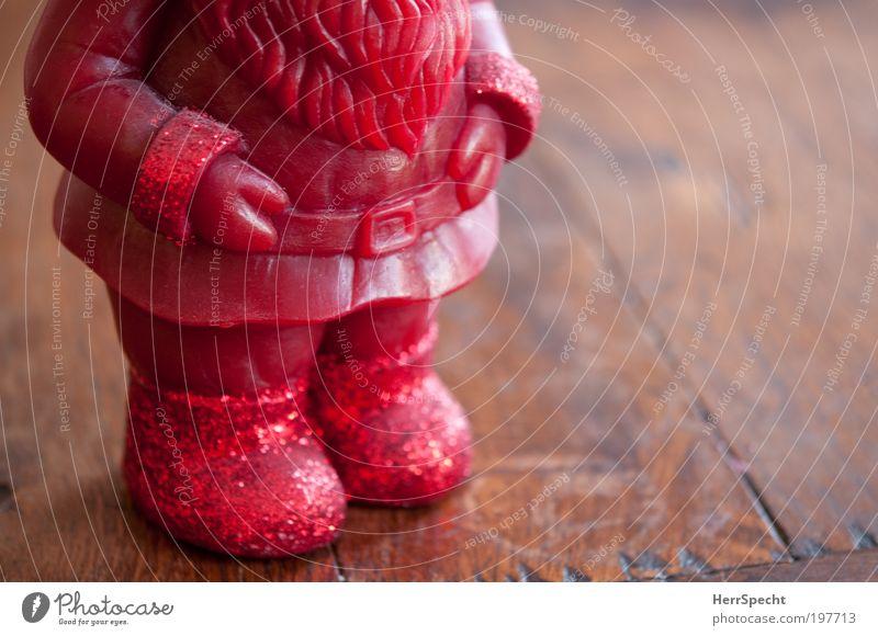 Christmas & Advent Red Wood Brown Wait Candle Santa Claus Fat Belt Beard Garden gnome Blur