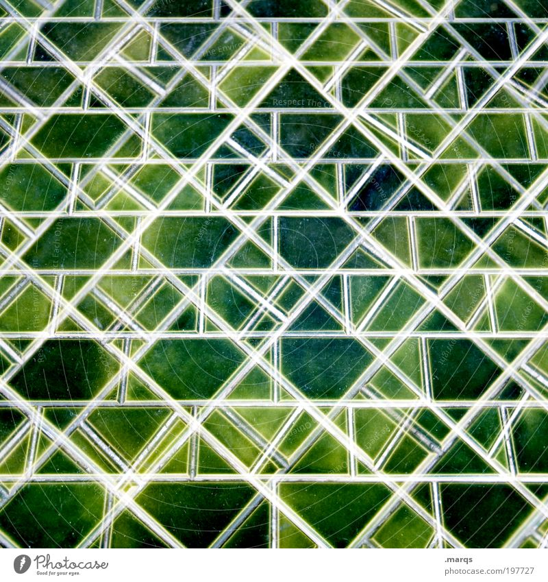 mosaic Lifestyle Design Decoration Tile Mosaic Line Exceptional Sharp-edged Many Green Chaos Colour Uniqueness Creativity Background picture Double exposure