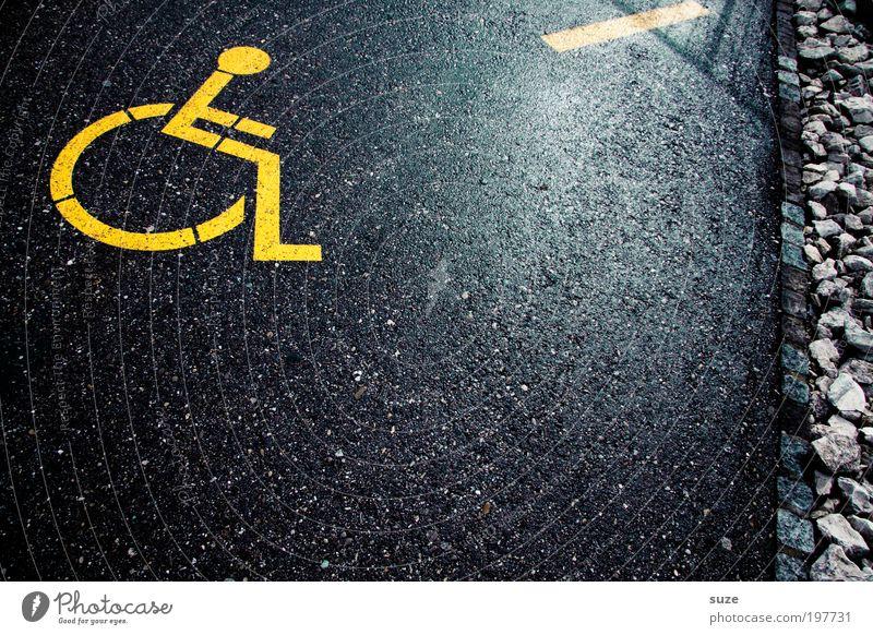 Black Yellow Street Lanes & trails Style Line Leisure and hobbies Sit Transport Lifestyle Signs and labeling Design Stripe Illustration Asphalt