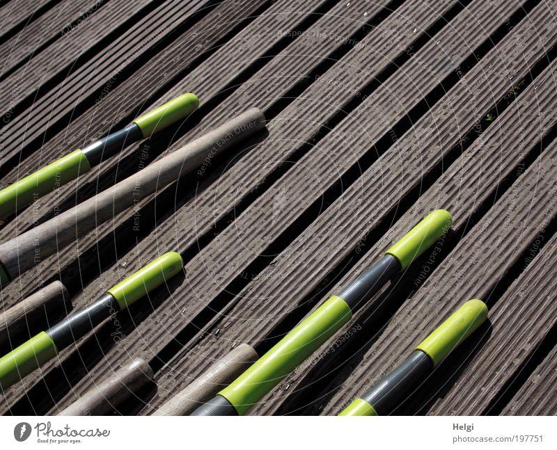 Joy Black Yellow Wood Brown Leisure and hobbies Lie Modern Crazy Esthetic Stripe Break Plastic Beautiful weather Long Footbridge