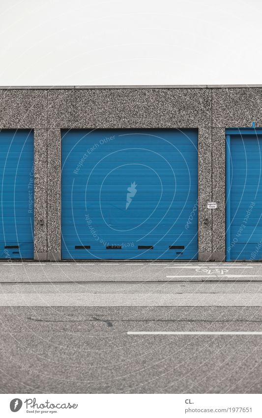 Blue Architecture Street Cold Wall (building) Lanes & trails Building Wall (barrier) Gray Transport Arrangement Gloomy Closed Signage Industry Logistics