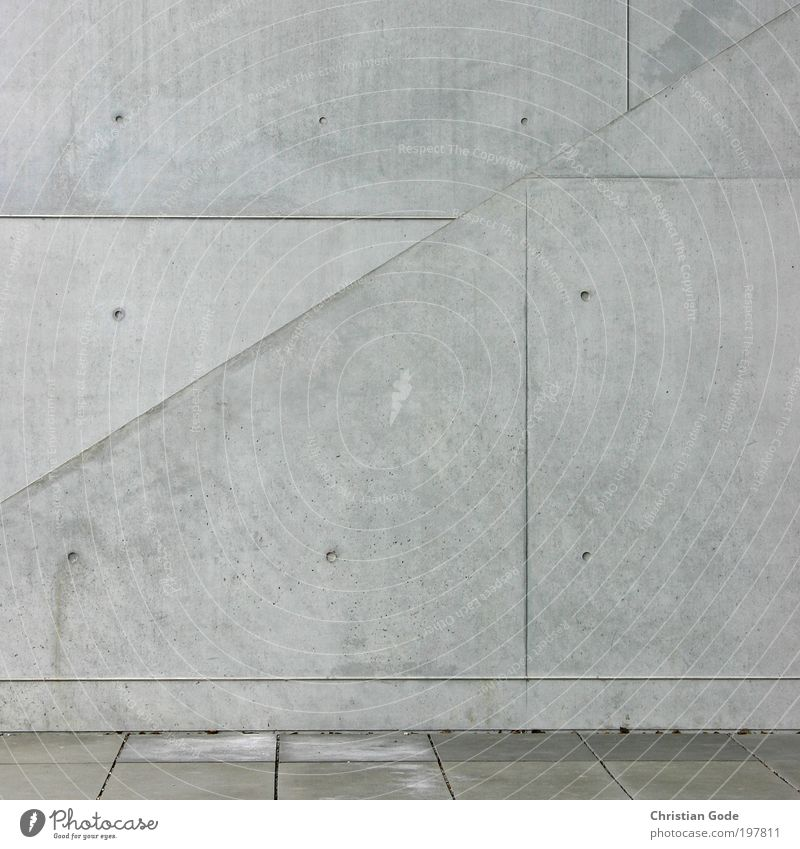 Concrete II Colour photo Exterior shot Pattern Structures and shapes Deserted Copy Space left Copy Space right Copy Space top Deep depth of field
