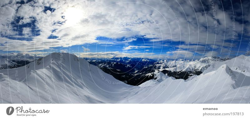 Sky Vacation & Travel Landscape Clouds Winter Mountain Snow Freedom Ice Tourism Trip Climate Peak Frost Alps Climbing
