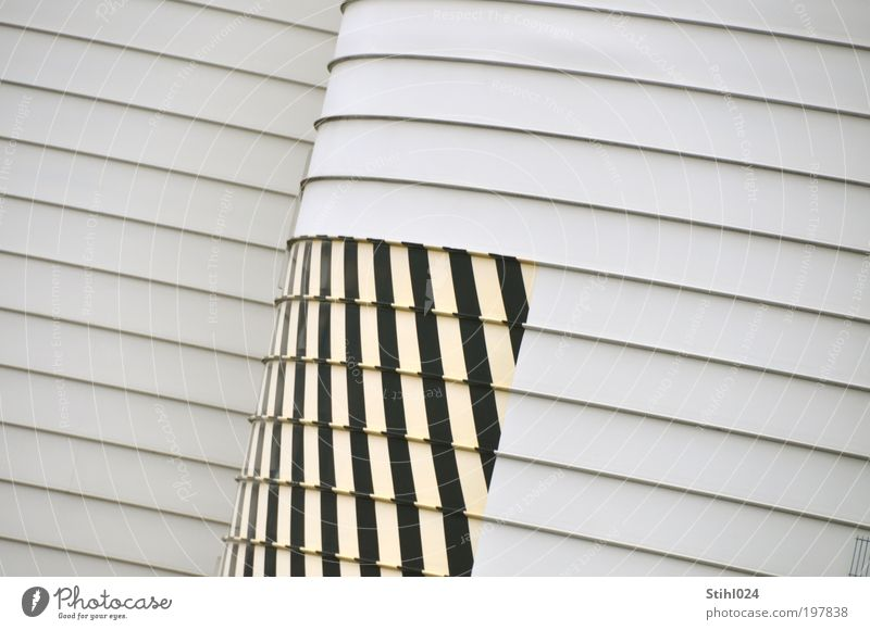 White Black Yellow Wall (building) Wall (barrier) Metal Architecture Facade Cool (slang) Gloomy Round Factory Stripe Fat Boredom Trade