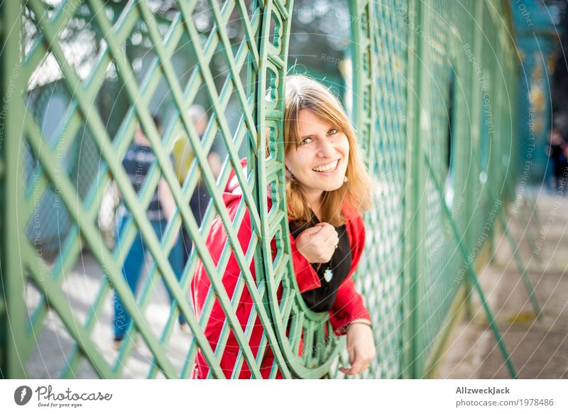 Lattice Portrait II Harmonious Tourism Trip Sightseeing City trip Feminine Young woman Youth (Young adults) Woman Adults Life 1 Human being 18 - 30 years