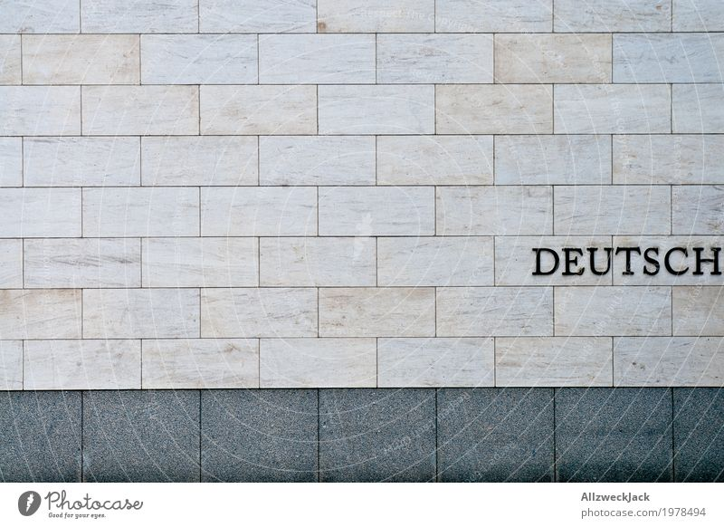 German Architecture Wall (barrier) Wall (building) Facade Characters Gray Germany Typography Letters (alphabet) Nationalities and ethnicity Colour photo