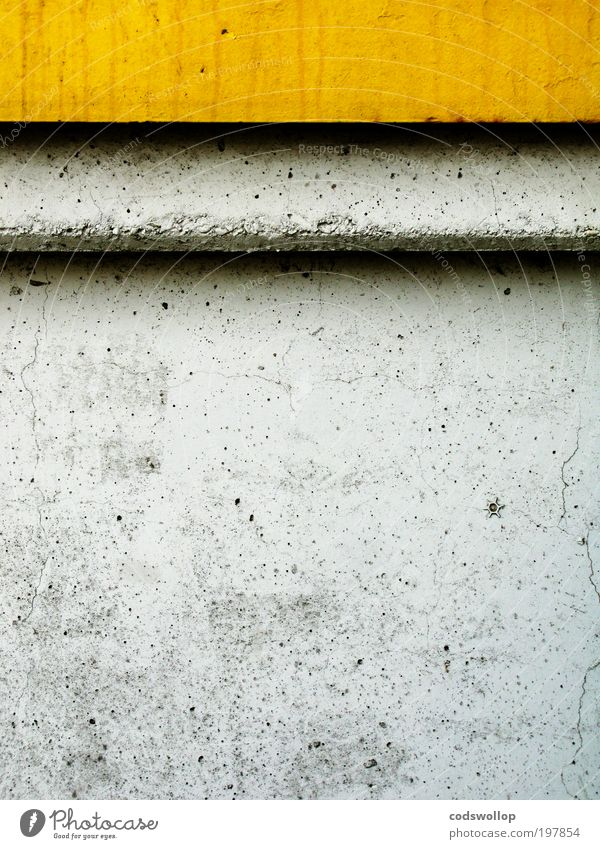 yellow grey black Manmade structures Wall (barrier) Wall (building) Facade Concrete Strong Yellow Gray Black Power Target Stars Flower Shadow Curbside