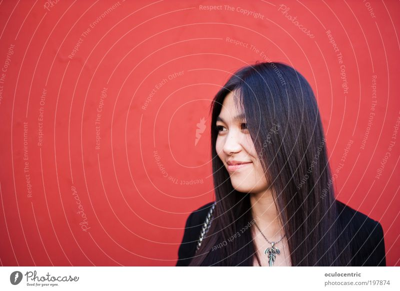 Hong Lian Human being Feminine Young woman Youth (Young adults) Head Face 1 18 - 30 years Adults Wall (barrier) Wall (building) Black-haired Long-haired