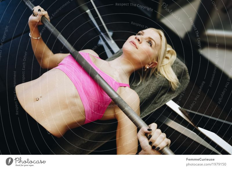 Human being Woman Youth (Young adults) Young woman 18 - 30 years Adults Lifestyle Healthy Movement Sports Feminine Pink Blonde Power Fitness Athletic