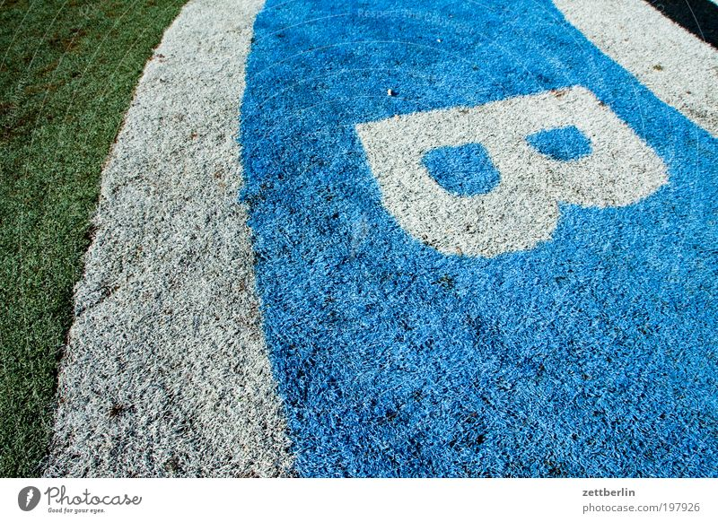 Berlin Meadow Grass Lawn Characters Grass surface Information Letters (alphabet) Sign Document Typography Sports Lettering