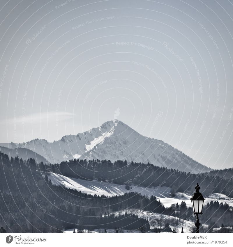 Alpine view at the Tegernsee Vacation & Travel Winter Snow Winter vacation Mountain Climbing Mountaineering Hiking Nature Landscape Sky Cloudless sky