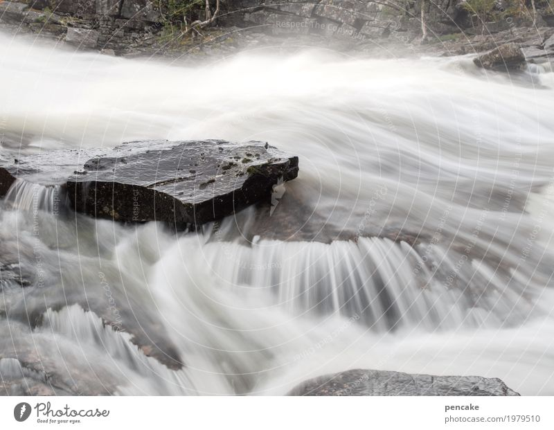 water | music Nature Landscape Elements Water River Stone Esthetic Success Fresh Healthy Wet Natural Waterfall Norway Stone slab Long exposure Flow Hissing