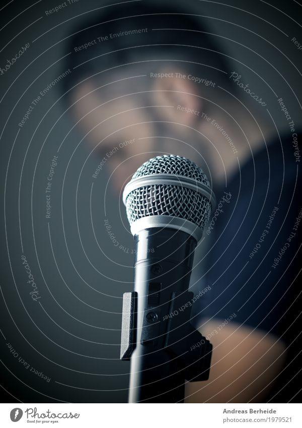 Human being Man Masculine Body Retro Music Creativity Event Microphone Sing Jazz Recording studio