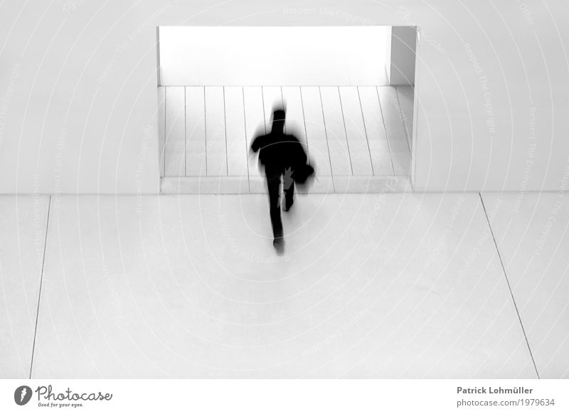 Black on White Human being Masculine Man Adults 1 18 - 30 years Youth (Young adults) Architecture Library Stuttgart Baden-Wuerttemberg Germany Europe Building