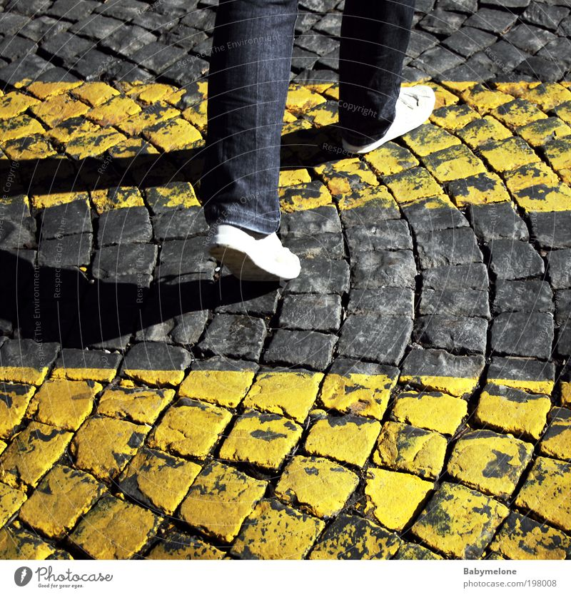 on the way Trip Human being Feet 1 Road traffic Street Road junction Signs and labeling Movement Going Vacation & Travel Determination In transit Zebra crossing