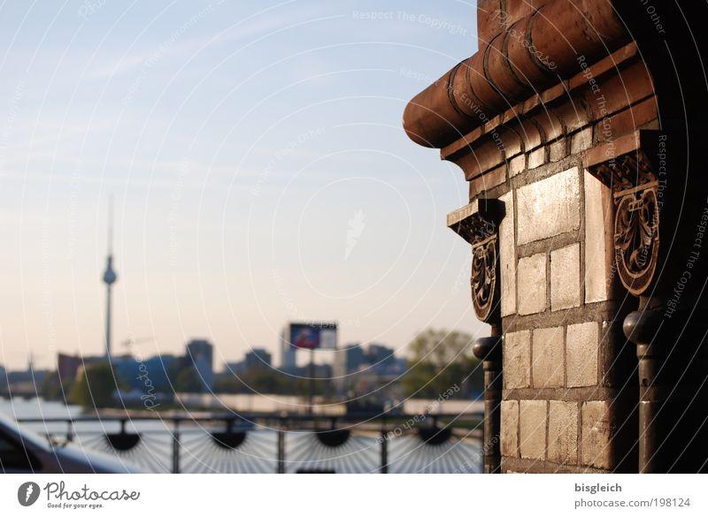 Stone Brown Bridge Berlin Tower Capital city Alexanderplatz City Building Oberbaumbrücke