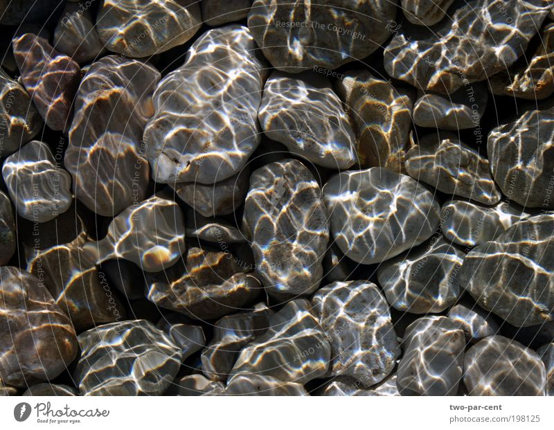 pebbles and water Nature Water Stone Wet River Elements Pebble