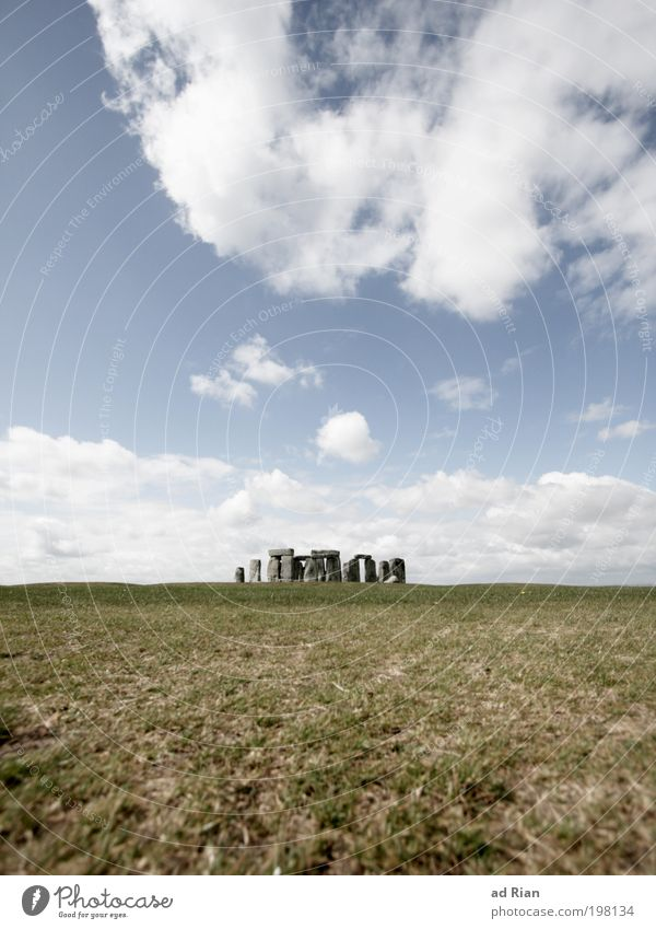 Queens of the Stone Henge Museum Culture Sky Clouds Horizon Grass Park Meadow Field Hill Rock Stone slab Quarry Stony Skyline Deserted Observatory
