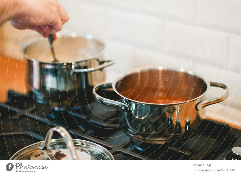 boil Soup Stew Nutrition Lunch Kitchen Pot Healthy Eating Cooking season Colour photo Interior shot Copy Space top