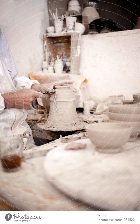 White Hand Work and employment Profession Tradition Workplace Tool Craftsperson Pottery Do pottery