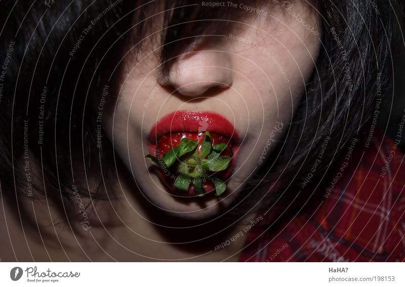 Human being Youth (Young adults) Beautiful Joy Adults Face Feminine Life Playing Head Hair and hairstyles Food Eating Mouth Fruit