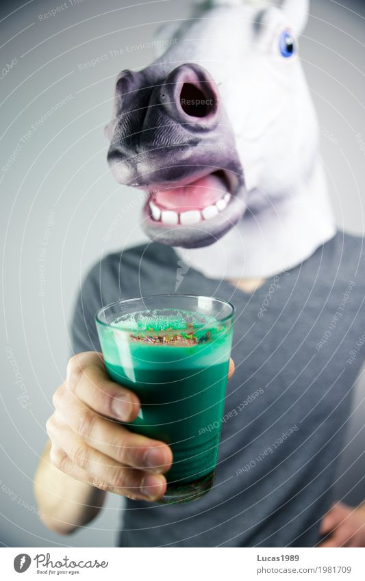 Human being Blue Green Animal Joy Life Style Food Masculine Glass Cool (slang) Beverage Coffee Drinking Wellness Horse
