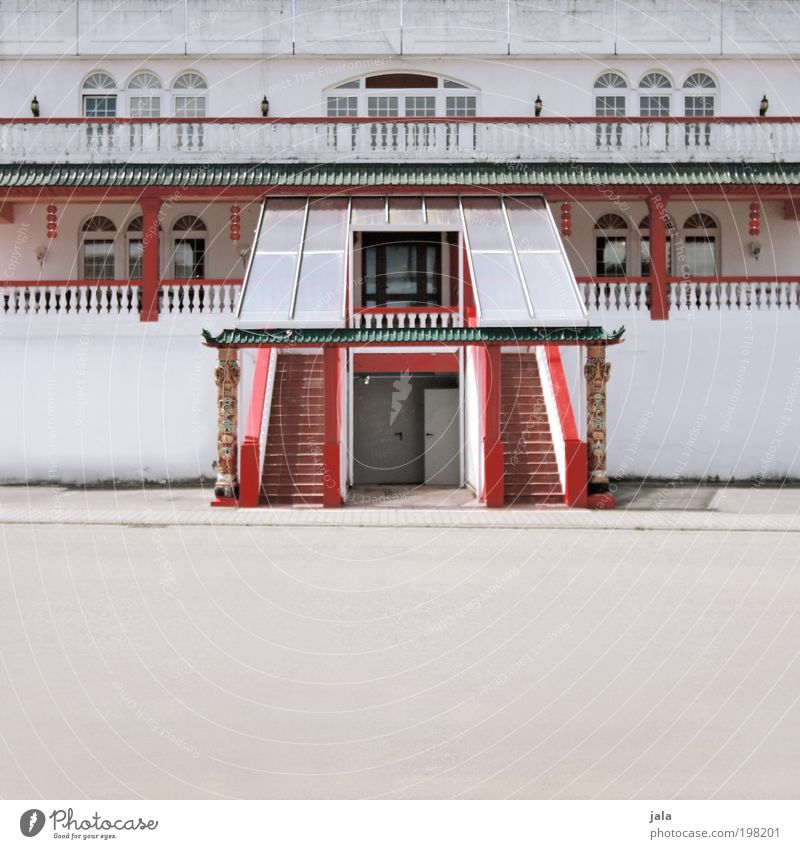 White Red House (Residential Structure) Street Window Wall (building) Architecture Building Wall (barrier) Door Elegant Places Stairs Large Esthetic