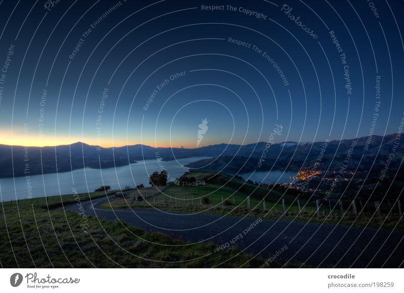 New Zealand XXXI Environment Nature Landscape Earth Cloudless sky Night sky Stars Horizon Beautiful weather Hill Rock Mountain Peak Village Fishing village