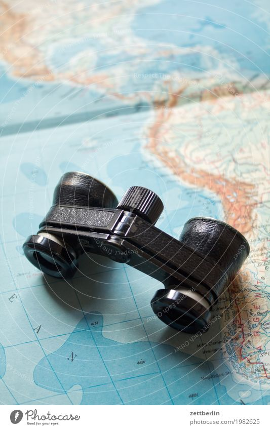 Vacation & Travel Landscape Far-off places Travel photography Tourism Observe Target Direction Adult Education Map Globe Expedition Atlantic Ocean South America Continents Binoculars