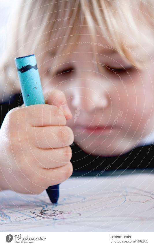 The sky blue... Handicraft Parenting Child Boy (child) 1 Human being 1 - 3 years Toddler Stationery Paper Piece of paper Pen Draw Brash Curiosity Cute