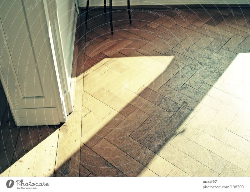 Champs Elysées Living room Parquet floor Hallway Floorboards Old building Laminate Sunbeam Chair leg