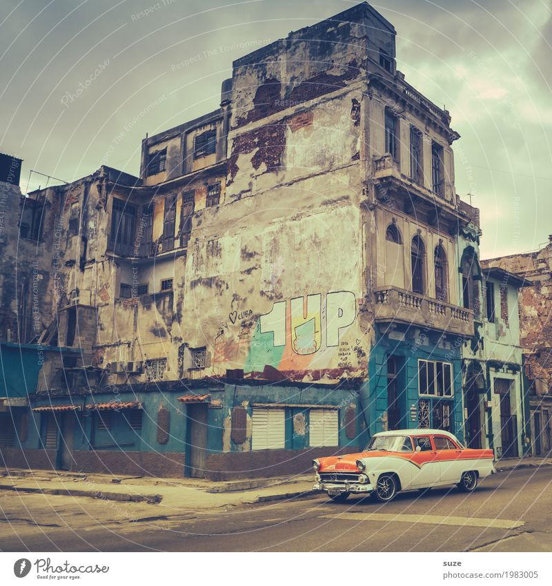 Vacation & Travel Old Town House (Residential Structure) Street Time Facade Transport Car Retro Culture Speed Poverty Broken Transience Change