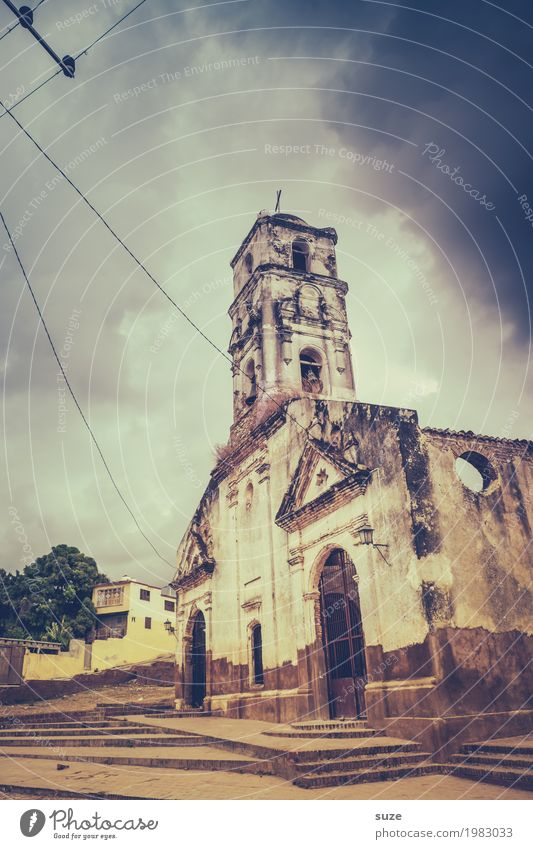 God forbid! Sky Clouds Gale Outskirts Church Ruin Places Manmade structures Building Tourist Attraction Landmark Old Dirty Historic Broken Moody Humble
