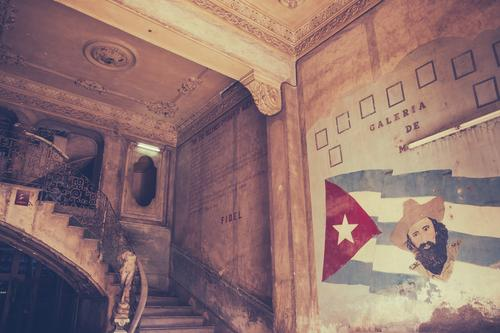 upward House (Residential Structure) Interior design Work of art Sculpture Culture Old town Building Architecture Stairs Sign Flag Poverty Retro Revolt Pride