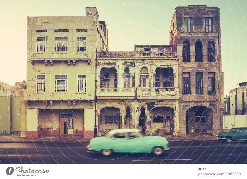 Vacation & Travel Old Town House (Residential Structure) Street Time Exceptional Facade Car Transport Retro Culture Poverty Transience Speed Broken