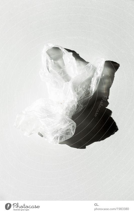 White Gray Esthetic Simple Plastic Trash Ease Paper bag Packaging Plastic bag Waste management