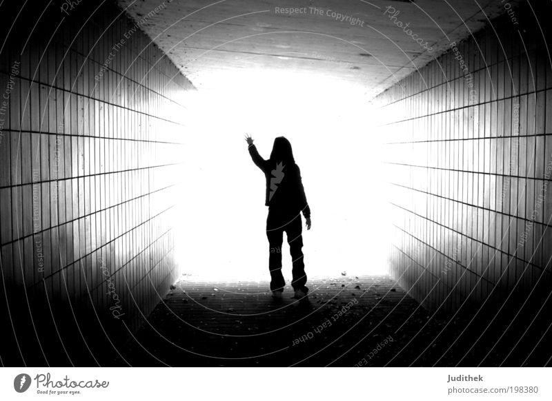 Untouchable Science & Research 1 Human being Sky Sunlight Tunnel Pedestrian Angel Touch Illuminate Exceptional Infinity Bright Emotions Optimism Brave Trust