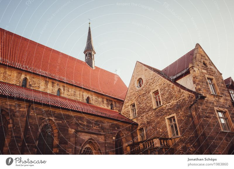 Ursuline monastery Erfurt II Winter Capital city Downtown Old town Religion and faith Church Tower Manmade structures Building Architecture Facade Roof