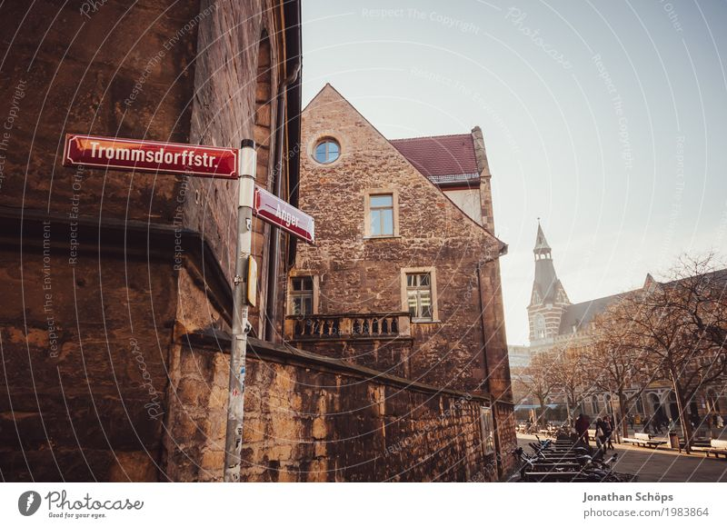 Ursuline monastery Erfurt III Winter Town Capital city Downtown Old town Religion and faith Church Tower Manmade structures Building Architecture Facade Roof