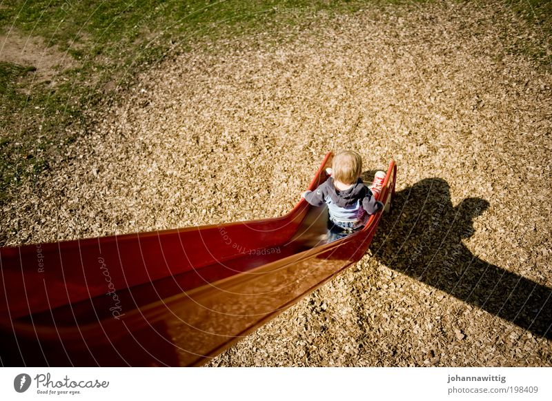 Human being Child Summer Boy (child) Playing Grass Wood Park Blonde Germany Masculine Trip Sit Leisure and hobbies Infancy