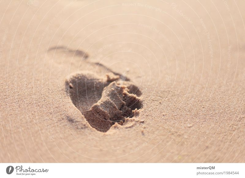 Vacation & Travel Art Time Sand Esthetic Eternity Past Barefoot Footprint Sandy beach Imprint Vacation photo Vacation mood Vacation destination