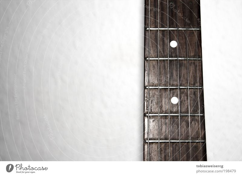 grabbed Music Guitar Wood Metal Old Dirty Sharp-edged Brown White Colour photo Close-up Deserted Flash photo Contrast