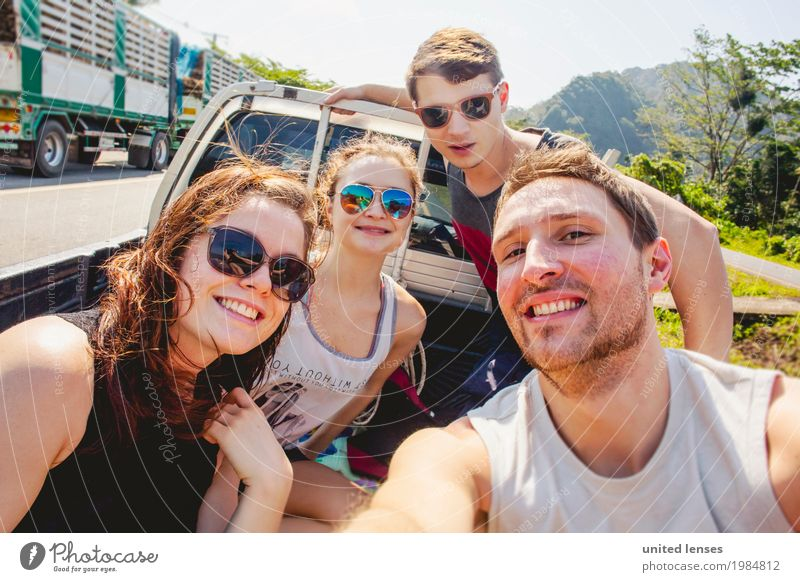 Vacation & Travel Youth (Young adults) Young woman Art Tourism Together Trip Esthetic Youth culture Discover Attachment Wanderlust Motoring Work of art Thailand