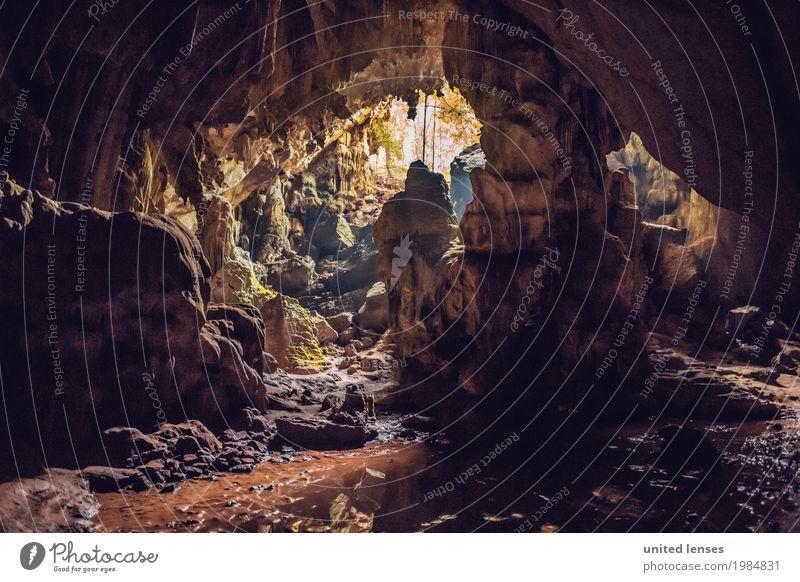 FF# cave light Art Esthetic Mountain Cave Cave villages Adventure Underground Thailand Travel photography Traveling Stone Concave Colour photo Subdued colour
