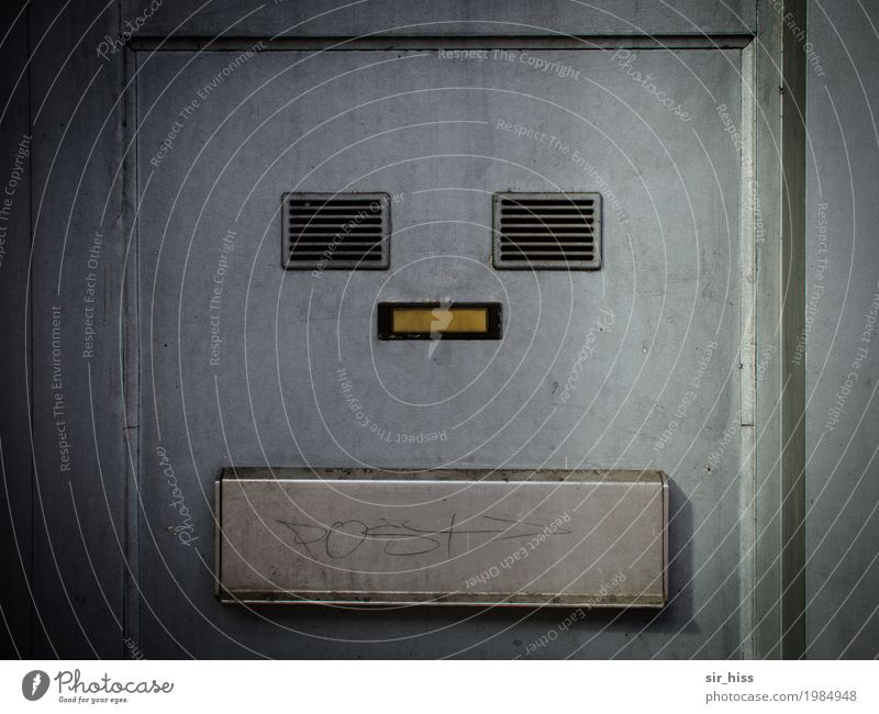 Town Face Yellow Wall (building) Wall (barrier) Gray Dirty Poverty Silver Mailbox Bell Hideous