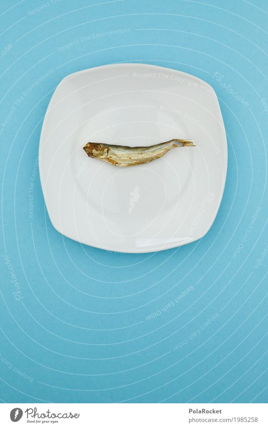 #A# thrifty Art Work of art Esthetic Plate Edge of a plate Eating Lacking Fish Fishery Fisherman Fish market sprat Thrifty Economic crisis Save Blue Smoked