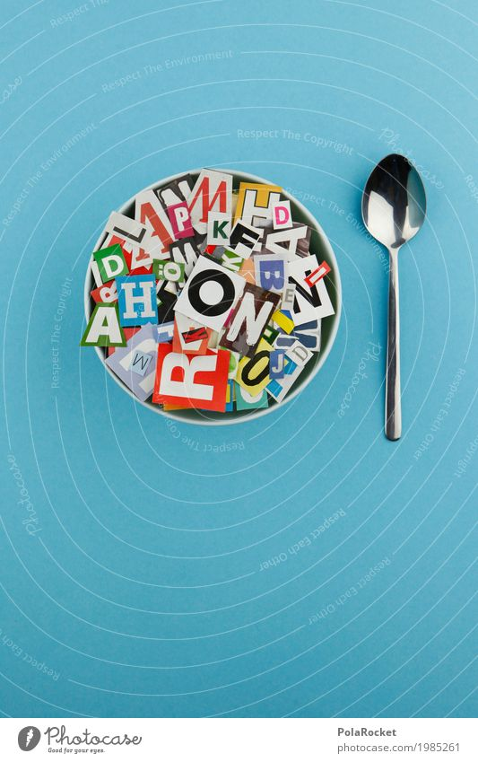 Beautiful Eating Lifestyle Art Design Esthetic Creativity Letters (alphabet) Delicious Many Kitsch Hip & trendy Typography Work of art Spoon Fashioned