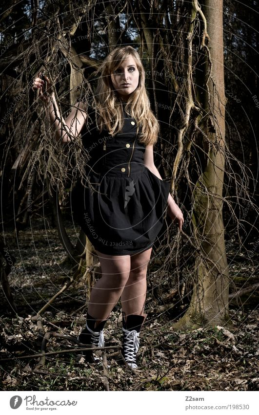Nature Youth (Young adults) Beautiful Tree Calm Loneliness Black Forest Feminine Dark Landscape Adults Style Sadness Dream Fashion